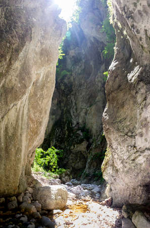 gorges of the valley of hell in the matese park