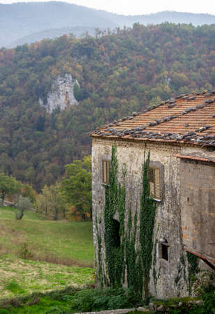 view of Prata Sannita village in italy