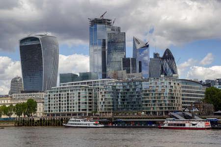 london 21 June 2019 city financial district Editorial