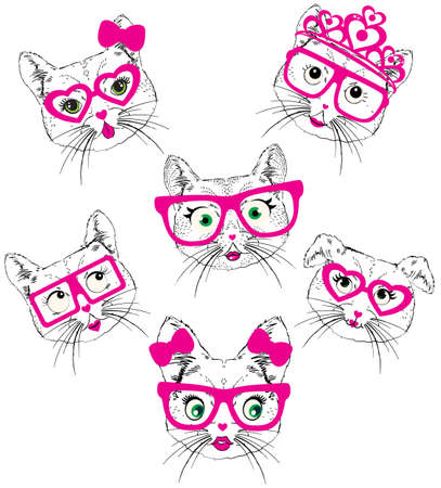 Illustration of cute cats