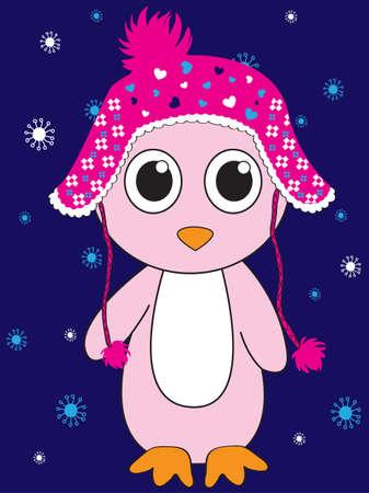 helper: Penguin Santa hat and gift sack vector illustration. Cartoon funny penguins icon isolated. Penguin vector, Santa Christmas helper, christmas penguin. Cartoon penguin vector icon illustration. Penguin