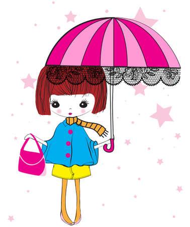 winter girl: Cute winter girl