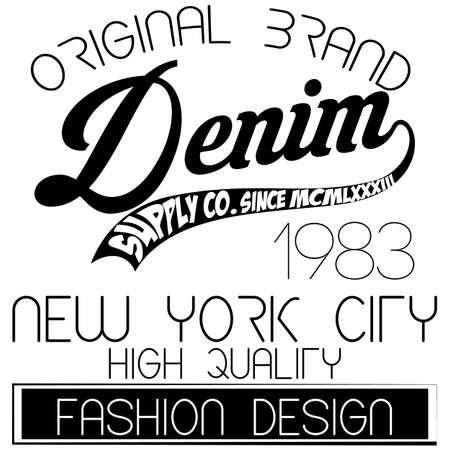 athletic: Athletic sport New York typography Stock Photo