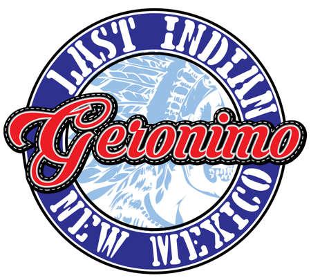 athletic: Athletic sport Geronimo typography Stock Photo