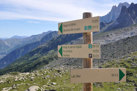 Sign in the mountain photo