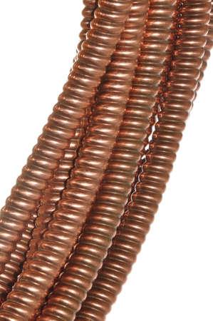 attenuation: copper wave cables Stock Photo