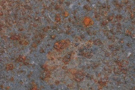 metalwork: Sheet metal rust destroyed the symbol of passing time