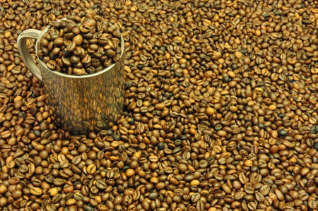 pot coffee beans photo