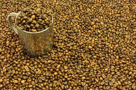 pot coffee beans photo