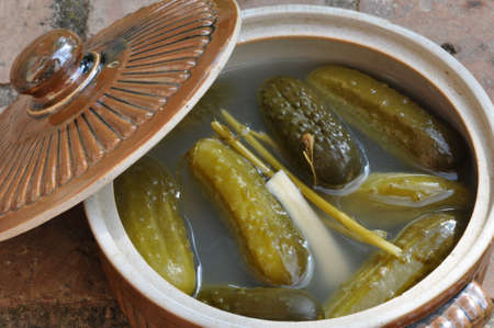 Pickled komkommers