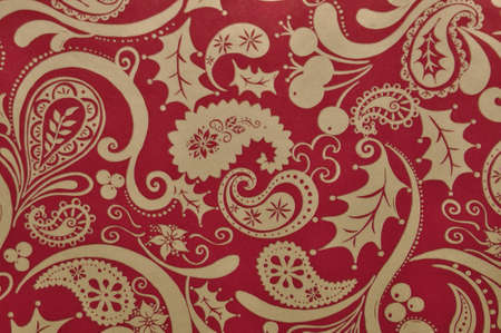 floral ornament in red colors photo