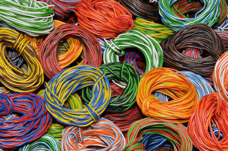 secondary raw materials, cable waste photo