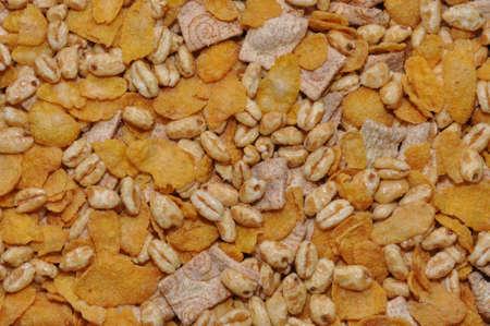 mixture: Corn flakes healthy food, mixture