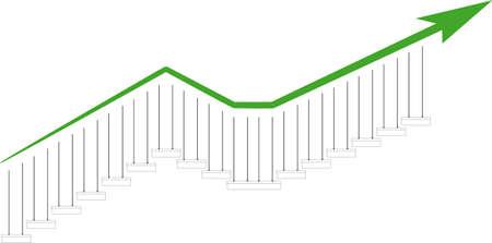 trends graph Stock Vector - 11823371