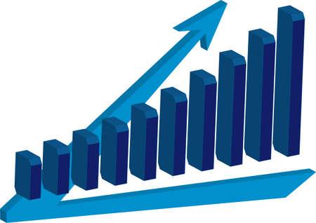 Chart growth Stock Illustratie