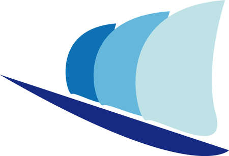 Sailboat logo Vector