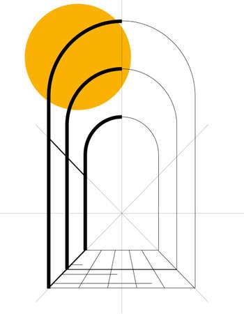 architecture logo: logo house Illustration