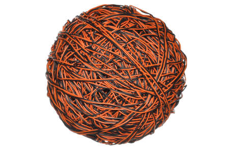 Ball of cable, global communications network photo
