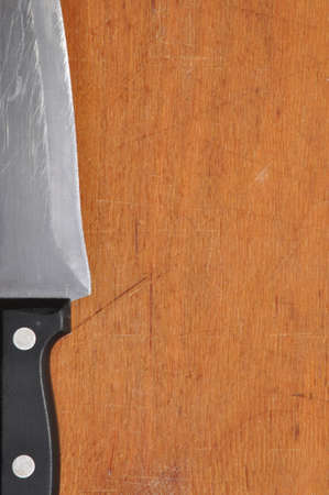 Butcher knife ready to cut Stock Photo