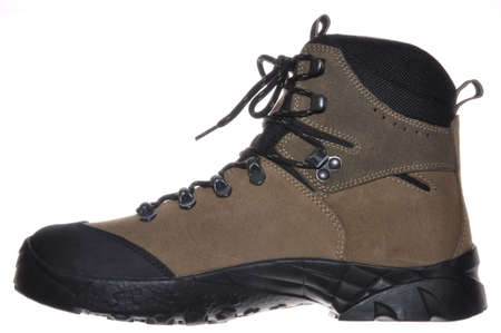 Single hiking boot for mountaineering photo