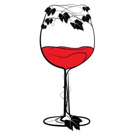 Glass of red wine Stock Vector - 12375200
