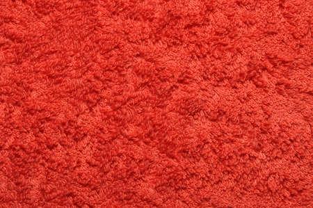 Red bath towel, equipment of bathroom photo