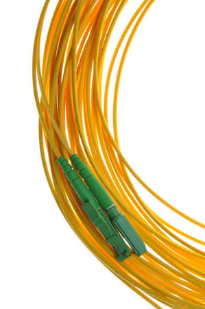 E2000 APC optical fiber connectors photo