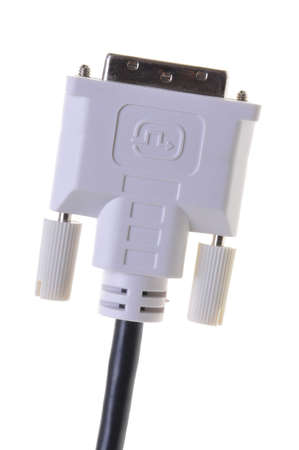 dvi: DVI plug computer to monitor cable Stock Photo