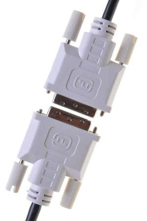 DVI computer monitor cable Stock Photo - 13103208