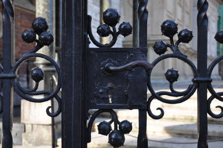 wicket gate: The steel lock gates to private property Stock Photo
