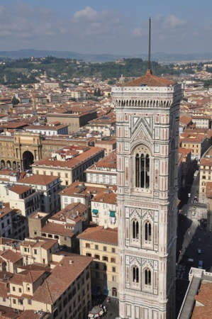 Tower in Florence, the view from the Cathedral Stock Photo - 14571587