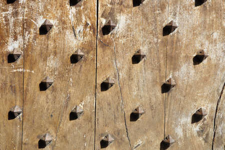 Wrought iron and wooden doors photo