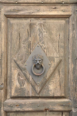 Stylish knocker on the door photo