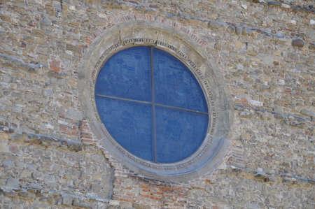 Niebieskie witraże w katedrze w Arezzo Zdjęcie Seryjne - 14591792