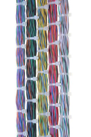 Bundles of network cables with cable ties Stock Photo - 14674218