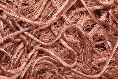 Copper wire recyclable materials photo
