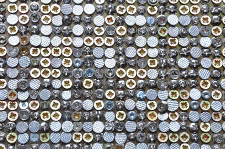 Orderly chaos bolts, screws, nails photo