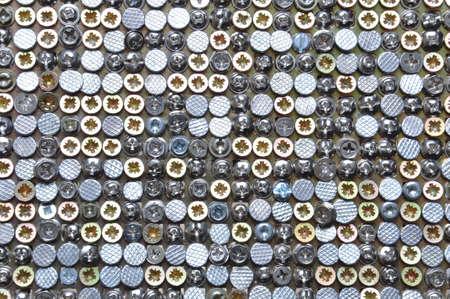 Orderly chaos bolts, screws, nails photo