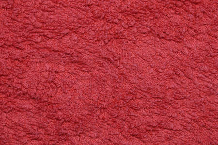 Blood red bath towel background Stock Photo
