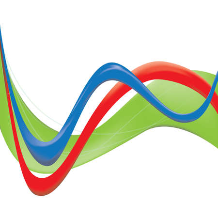 sine wave: symbol of clean green energy Illustration