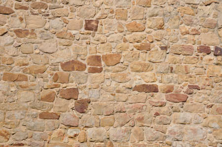 Background of stone wall from sandstone Stock Photo