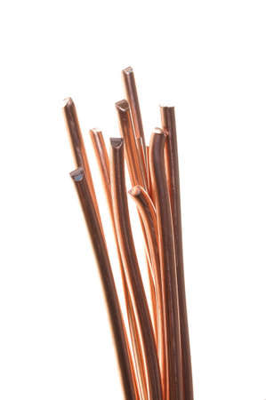 Copper wire isolated on white background Stock Photo - 15548271