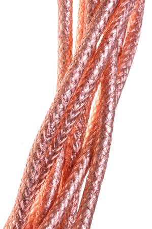 Coaxial cables braided copper Stock Photo - 15548283