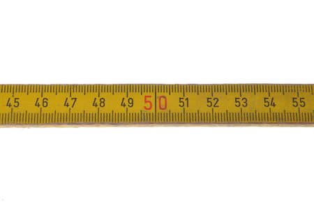 Wooden meter isolated on white background photo