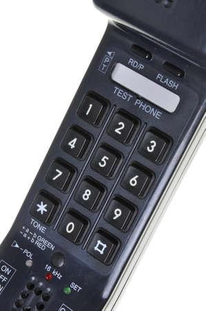 teclado num�rico: N�mero de tel�fono con un teclado num�rico aislado sobre fondo blanco Foto de archivo