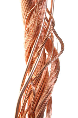 Twisted copper wire isolated on white background Stock Photo - 15885882