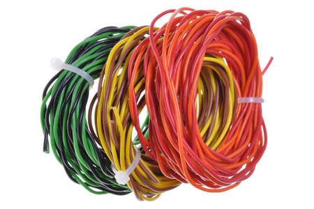 Cable scraps after installation Stock Photo - 15914287