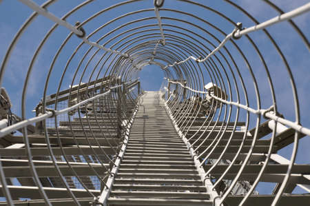 Staircase to the top of the telecommunication tower Stock Photo - 15947914