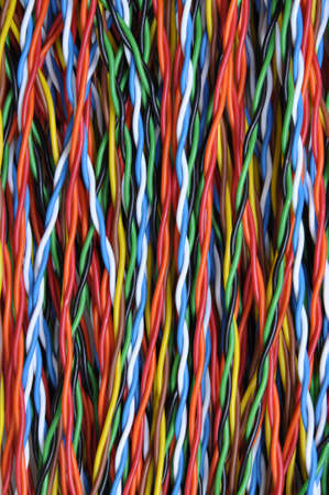 Twisted colored wires in data communication networks photo