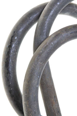 rhodium: Smooth steel rod isloated on white background